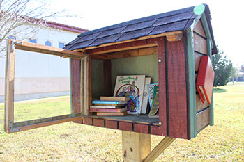 Little Library filled with books
