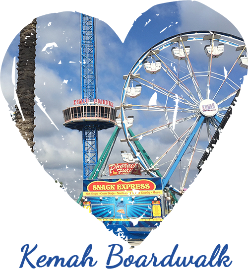 Kemah Boardwalk - Heart SMALL